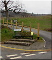 SO2218 : Wooden bench on a Crickhowell corner by Jaggery