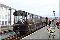 SH5738 : The Observation car of the Welsh Highland railway by Richard Hoare