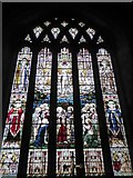 SP2160 : St James the Great, Snitterfield: stained glass window (V) by Basher Eyre