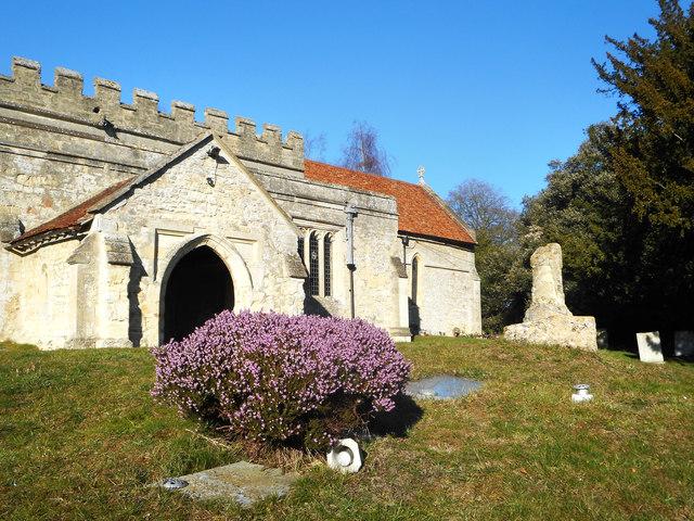 Heather and Cross, Dinton Churchyard