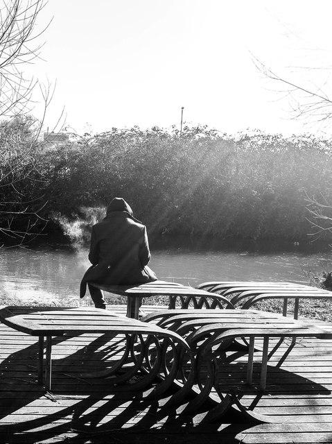 Fishing platform, Great Stour, Canterbury