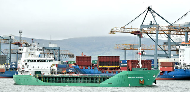 "The ""Arklow Resolve"", Belfast harbour (February 2019)"