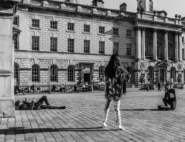London Fashion Week photo shoot, Somerset House, London