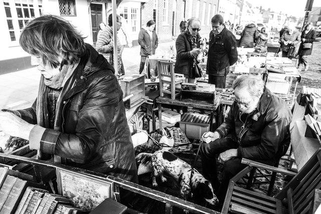 Second-hand book stall, Faversham Market