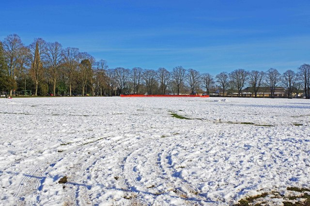 The Leys in winter, Witney, Oxon