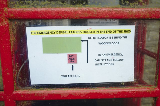 Notice in the phone box