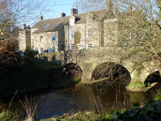 The River Derwent at Baslow Old Bridge