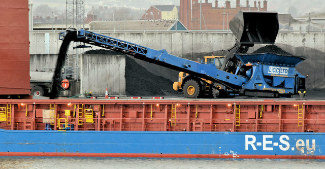Conveyor, Belfast harbour (February 2019)