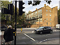 TQ3480 : South end of Solander Gardens flats, Shadwell by Robin Stott