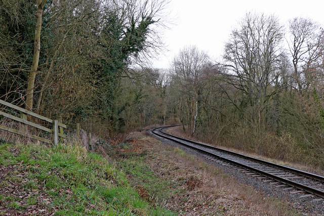 Railway and Country Park near Highley in Shropshire