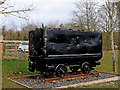 SO7583 : Preserved colliery truck near Alveley in Shropshire by Roger  Kidd