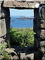 NM2842 : Lunga - looking through an abandoned blackhouse window by Rob Farrow