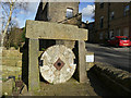 SE0426 : Old millstone, Luddenden High Street by Stephen Craven