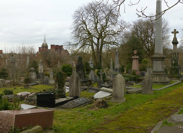Derby Old Cemetery, view from the south west