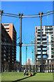 TQ2983 : Gasholder Park 3 by Des Blenkinsopp