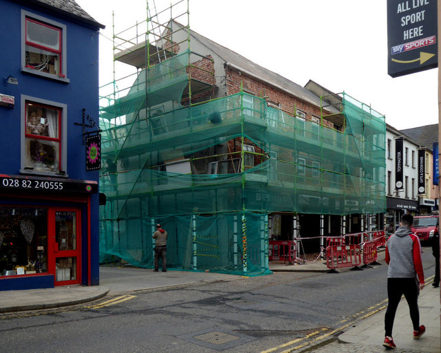 Renovations to building along Bridge Street, Omagh