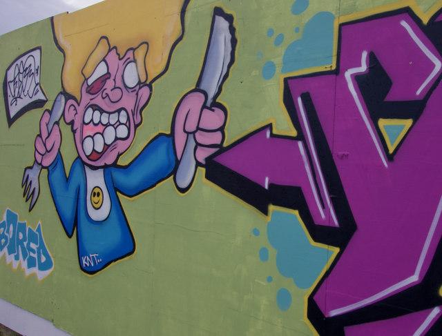 Street art, St Peter Street, Hull