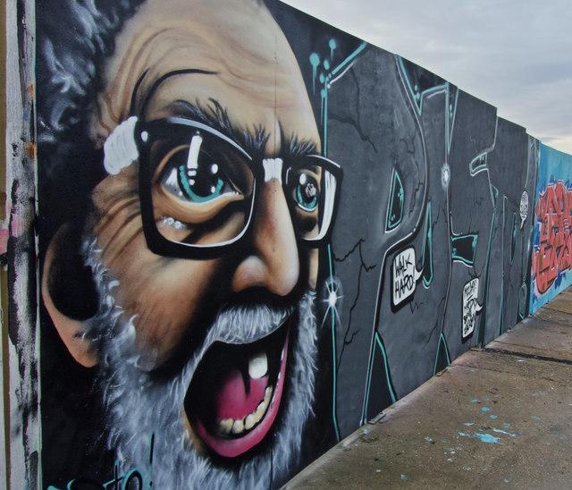 Street art, by Drypool Bridge, Hull