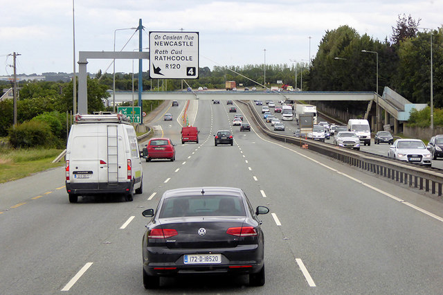 Footbridge over Naas Road (N7/E20) near Rathcoole