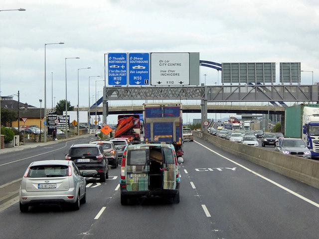 Overhead Sign Gantry at N7/M50 Interchange