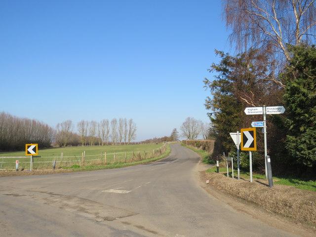 Buckland Road, near Higham