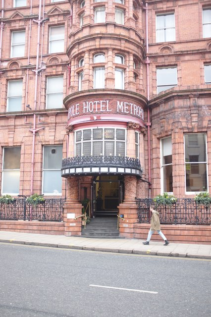 Entrance to the Metropole Hotel