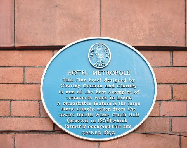 Blue Plaque on the Metropole Hotel