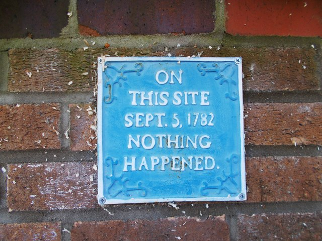 Spoof blue plaque, Longthorpe