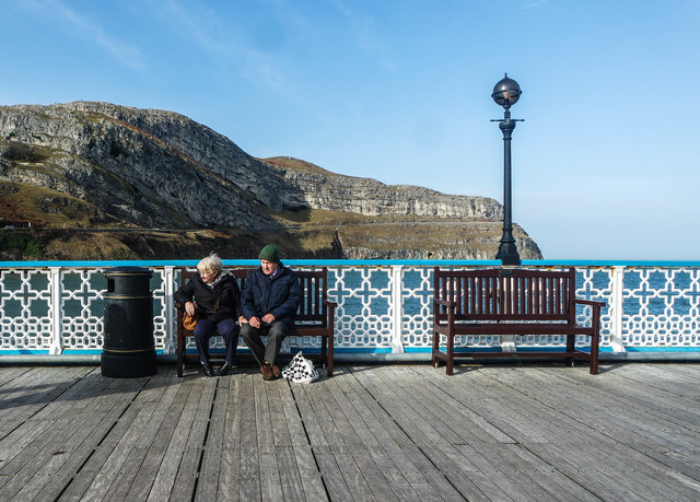 Llandudno Pier in the shadow of The Great Orme