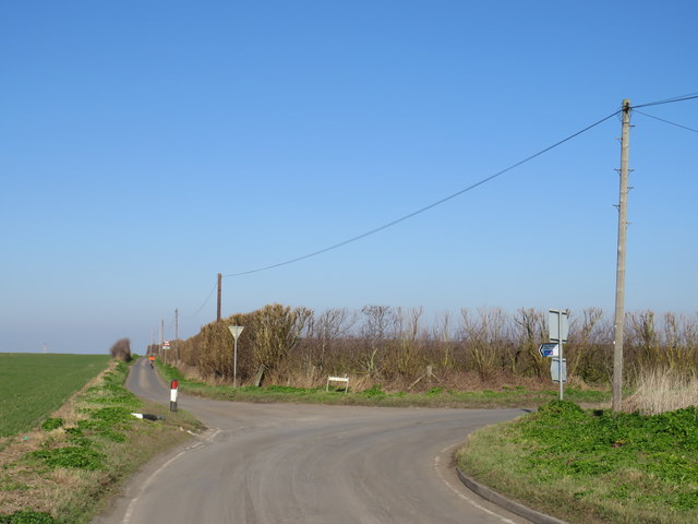 Road junction near Cooling