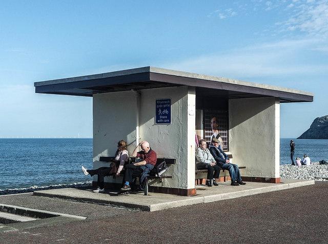 Seafront shelter, Llandudno