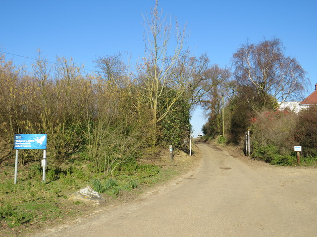 Entrance to Northwood Hill nature reserve near Cooling