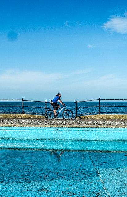 Promenade cyclist, Llandudno