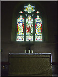 ST6149 : East window and altar by Neil Owen