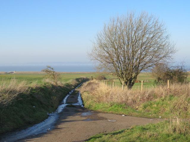 Track near Allhallows