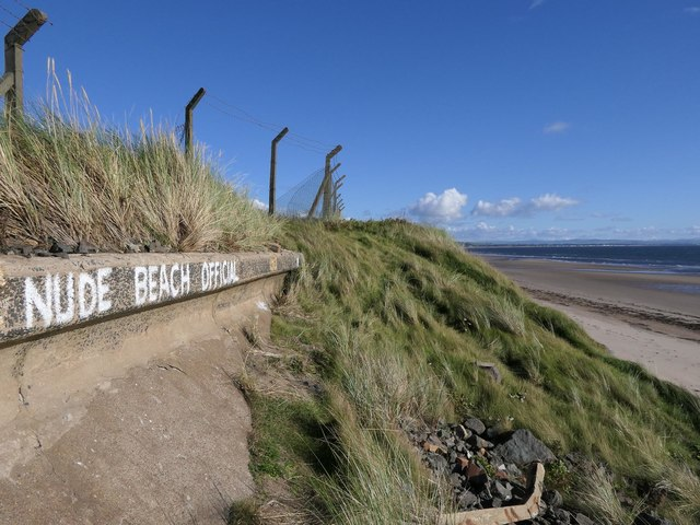 Sea wall, Ardeer Beach, Ayrshire