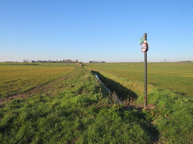 Public footpath near Allhallows