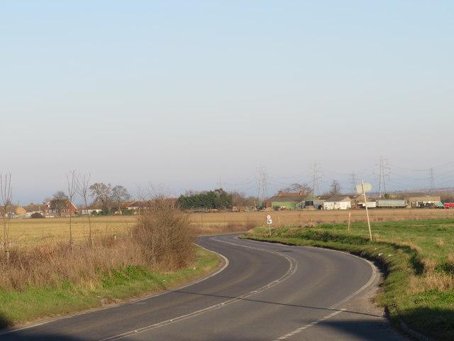 Grain Road near Stoke