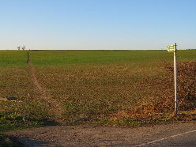 Public footpath near Hoo St. Werburgh