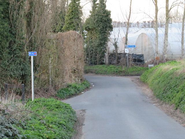 Bunters Hill Road, near Chattenden