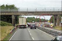 N8619 : Bridge over the M7 near Naas by David Dixon