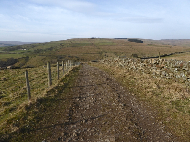 d607bd162 Old road to the valley of the Middlehope... © Oliver Dixon cc-by-sa ...