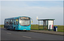 NZ6124 : Bus stop and shelter on Coast Road (A1085), Redcar by JThomas