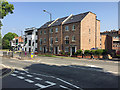 SP3166 : Houses on the site of the New Binswood Tavern, Rugby Road, Leamington by Robin Stott