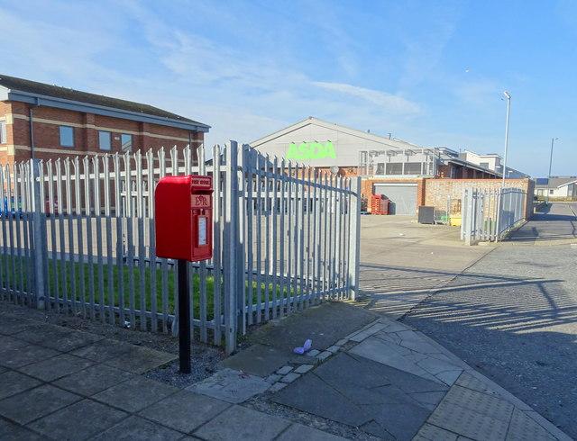Elizabeth II postbox on Ayton Drive, Redcar