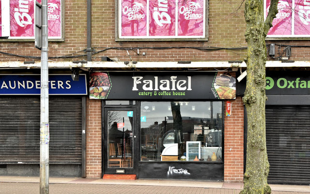 Falafel coffee house, Botanic Avenue, Belfast (February 2019)