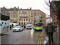 SJ8398 : A rainy day in Manchester by Gerald England