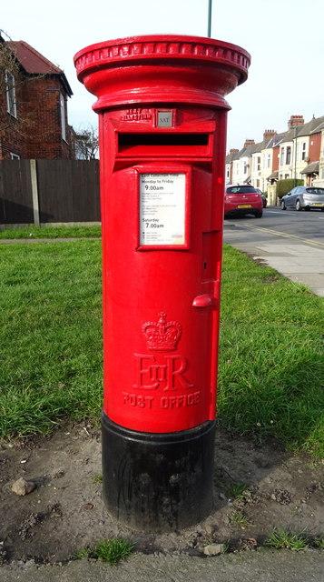 Elizabeth II postbox on Redcar Lane, Redcar