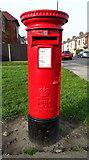 NZ6024 : Elizabeth II postbox on Redcar Lane, Redcar by JThomas