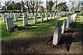 SP1954 : War graves In Stratford-upon-Avon Cemetery by Philip Halling